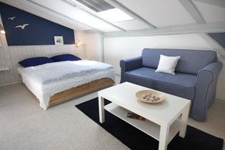Ostsee Warnem�nde Apartment mit Blick zum Schiffsverkehr